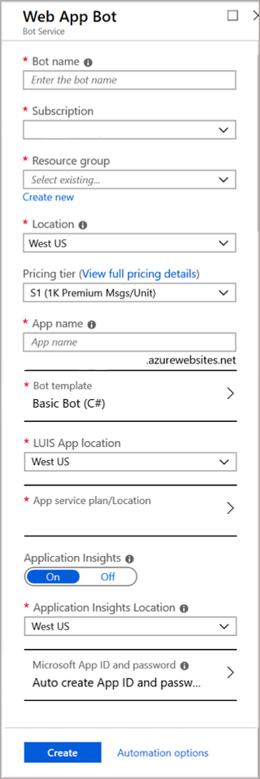 Create a bot with Bot Service - Bot Service | Microsoft Docs