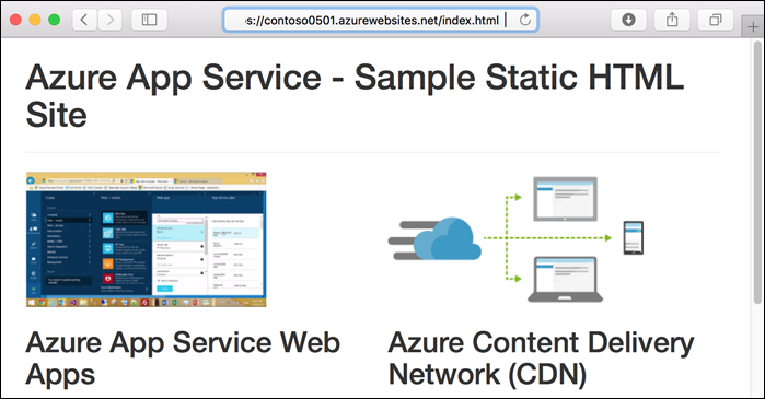 Tutorial - Add Azure CDN to an Azure App Service web app