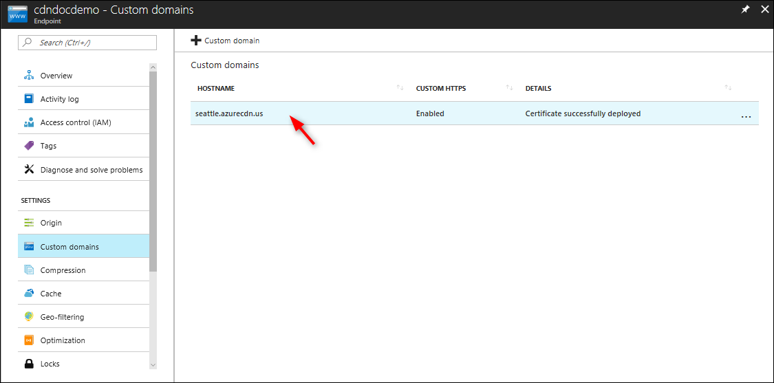 Tutorial Configure Https On An Azure Cdn Custom Domain Microsoft