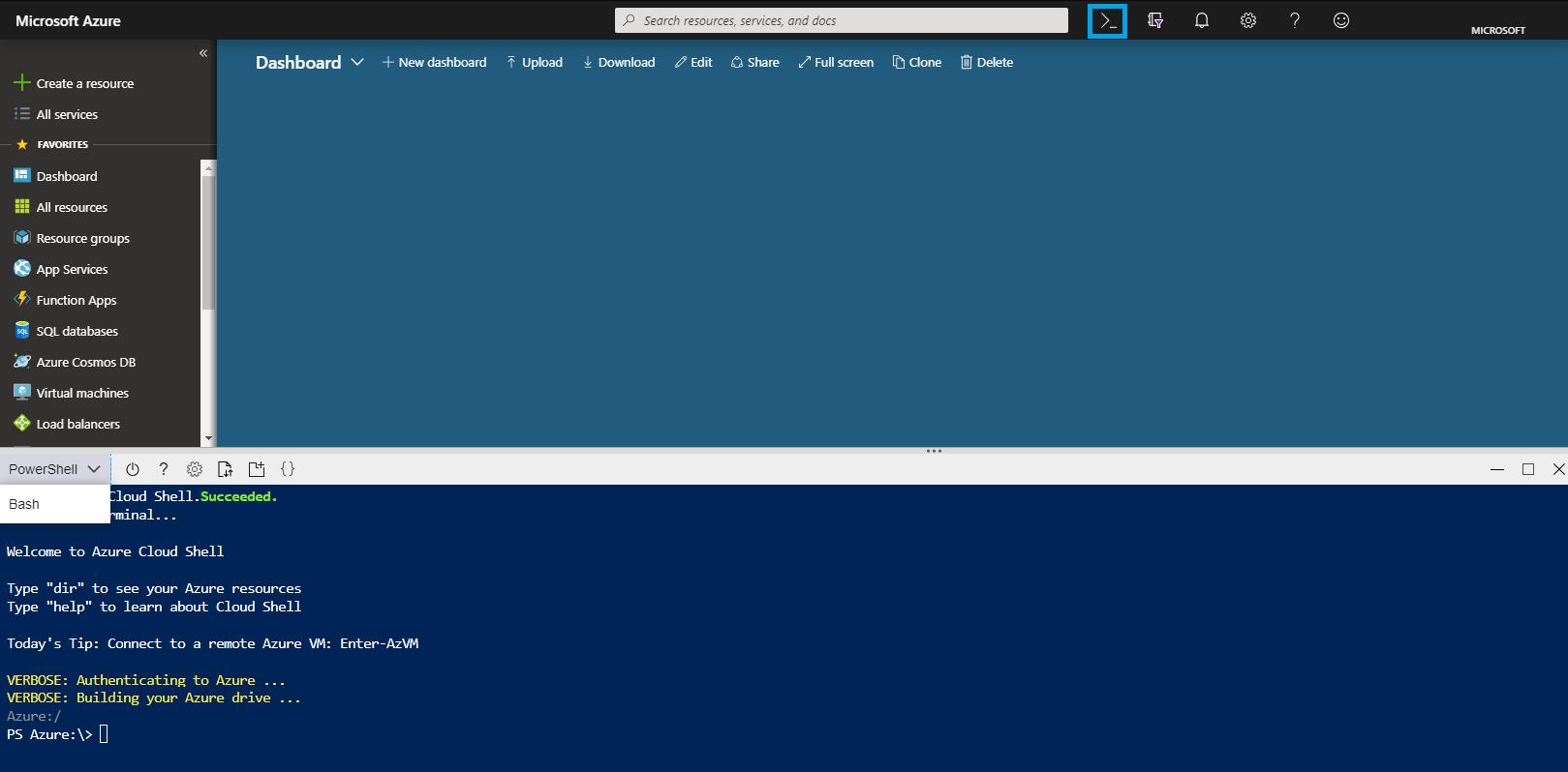 Azure Cloud Shell overview | Microsoft Docs