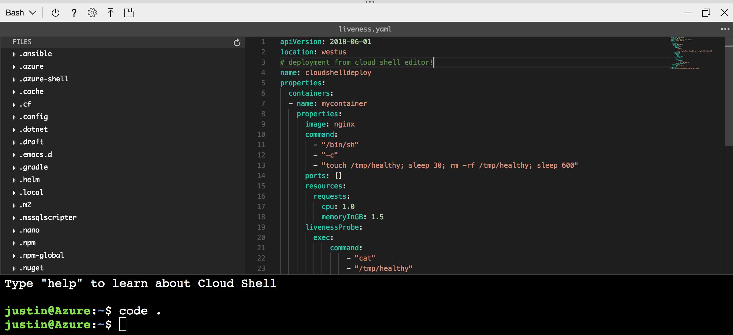 Using the Azure Cloud Shell editor   Microsoft Docs