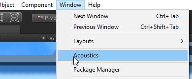 Project Acoustics Unity Bake Tutorial | Microsoft Docs