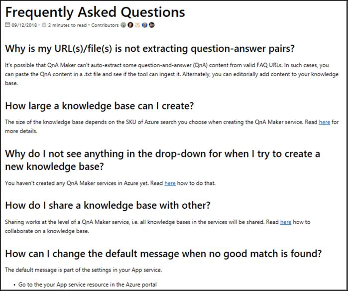Data sources supported - QnA Maker - Azure Cognitive