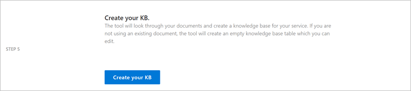 Quickstart: Create knowledge base - QnA Maker - Azure