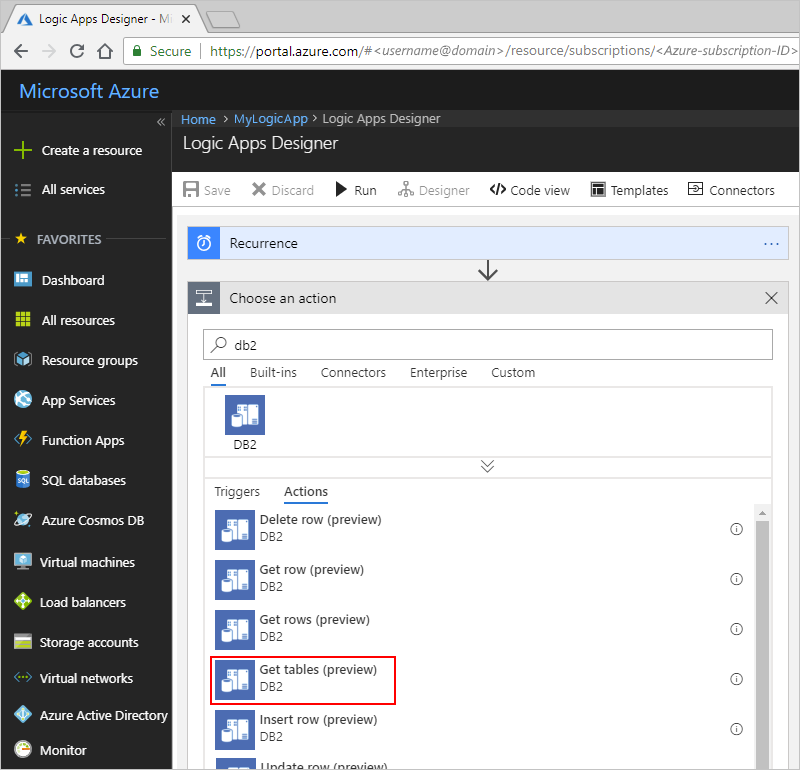 Connect to IBM DB2 - Azure Logic Apps | Microsoft Docs