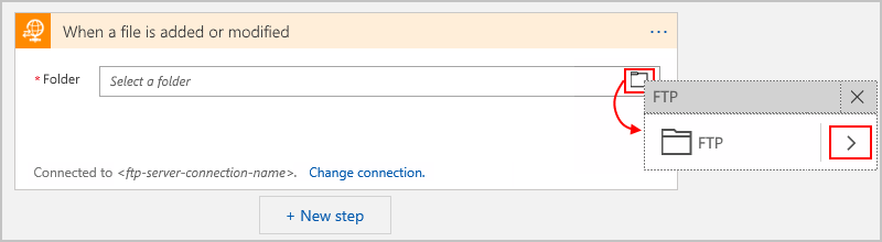 Connect to FTP server - Azure Logic Apps | Microsoft Docs
