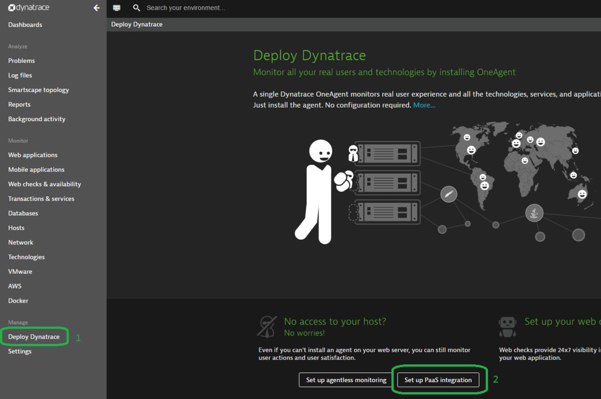 DEPRECATED) Monitor Azure DC/OS cluster - Dynatrace | Microsoft Docs