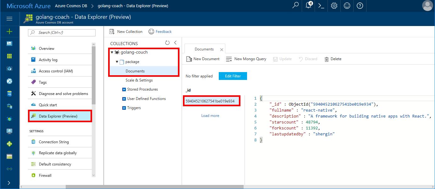 Build a console app using Azure Cosmos DB's API for MongoDB