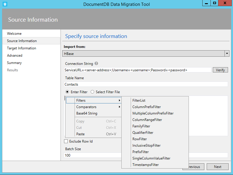 Database migration tool for Azure Cosmos DB | Microsoft Docs