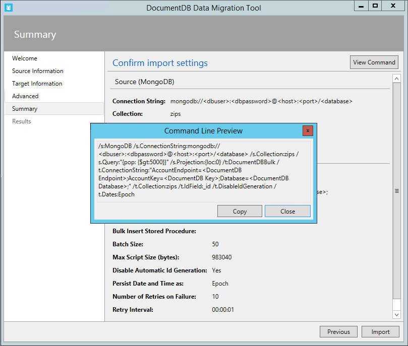 Database migration tool for Azure Cosmos DB | Microsoft Docs