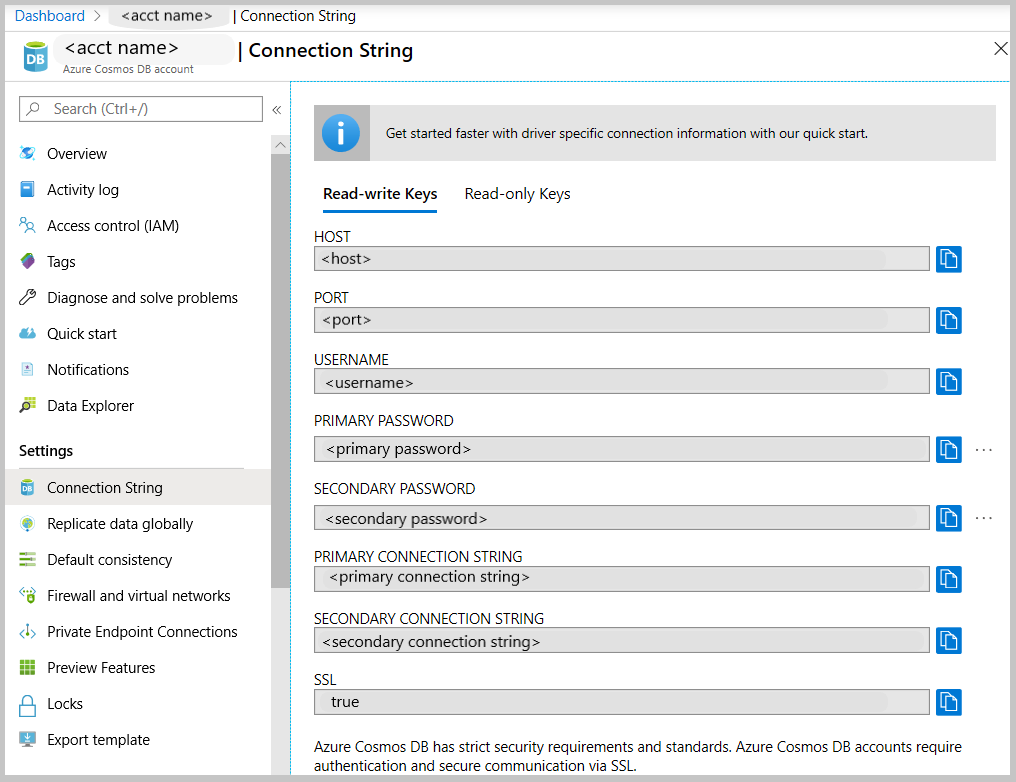 Connect to Azure Cosmos DB using Compass | Microsoft Docs