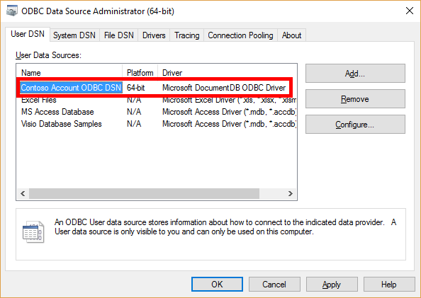 Connect to Azure Cosmos DB using BI analytics tools