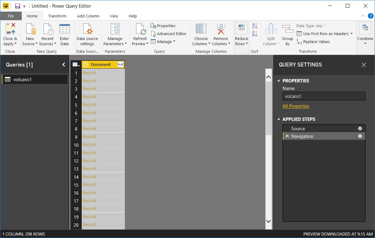 Power BI Desktop Query Editor Power BI