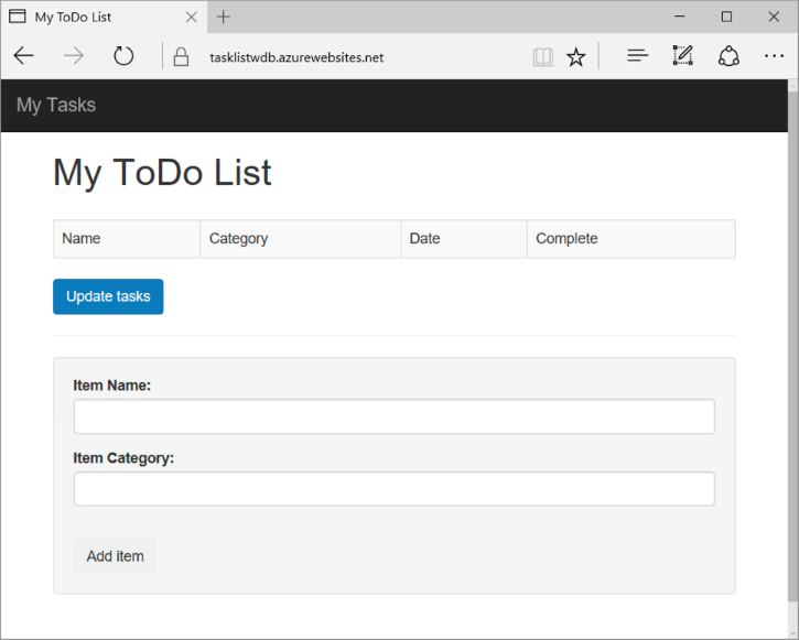 Screen Shot Of The My Todo List Application Created In This Nodejs Tutorial