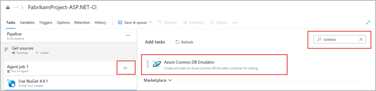 Set up CI/CD pipeline with the Azure Cosmos DB emulator