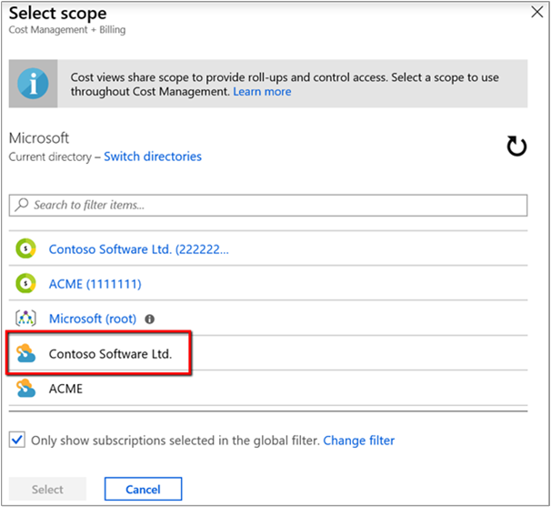 Manage AWS costs and usage in Azure Cost Management