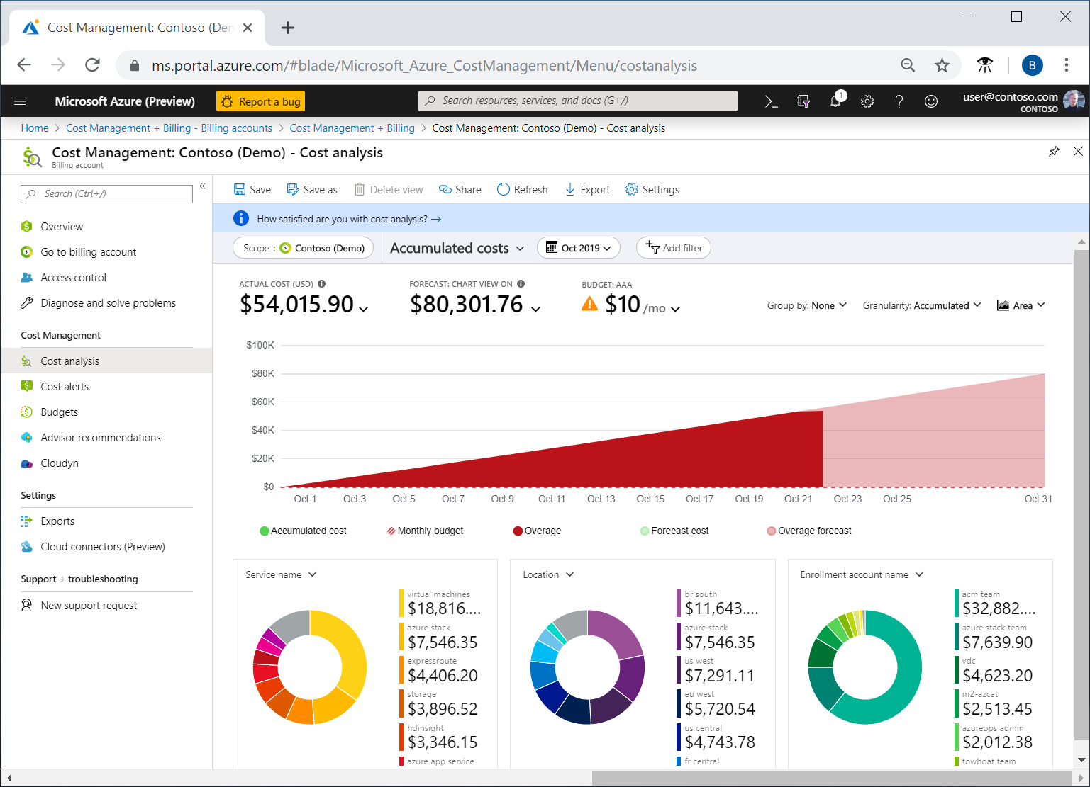 Quickstart - Explore Azure costs with cost analysis