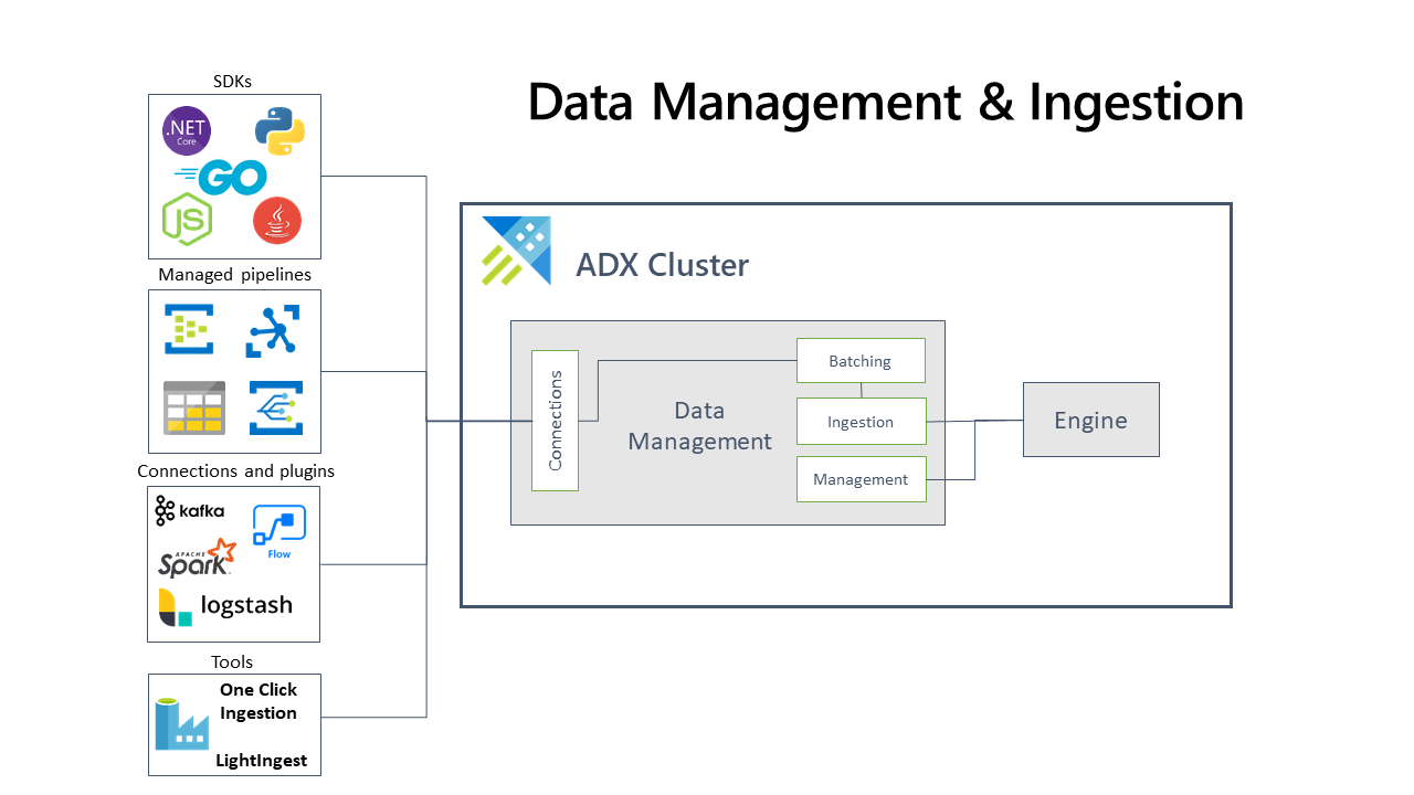 Overview scheme of data ingestion and management.