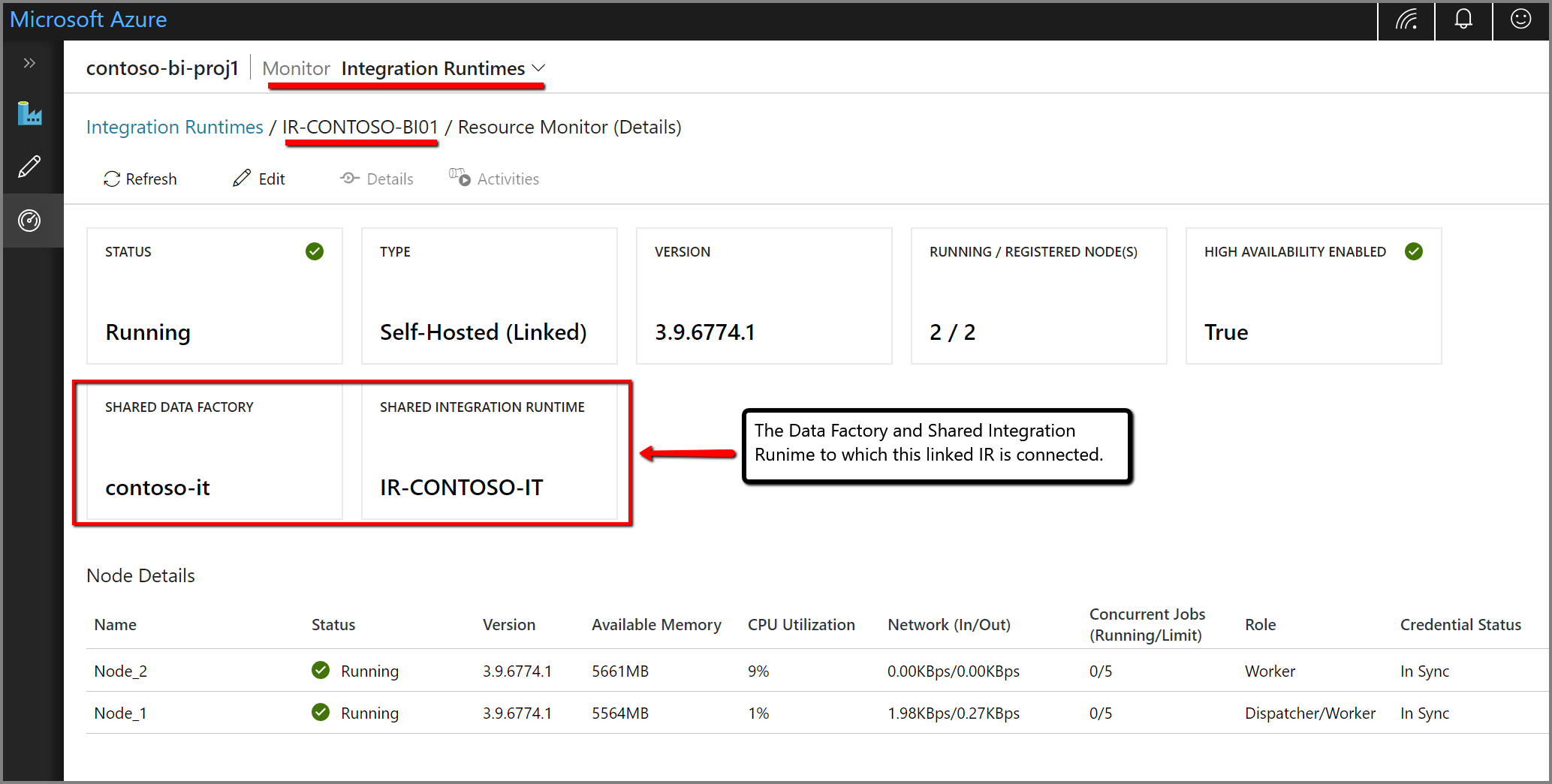 Create a self-hosted integration runtime in Azure Data