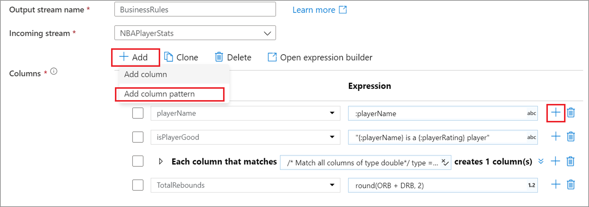 Column patterns in Azure Data Factory mapping data flow - Azure Data  Factory | Microsoft Docs