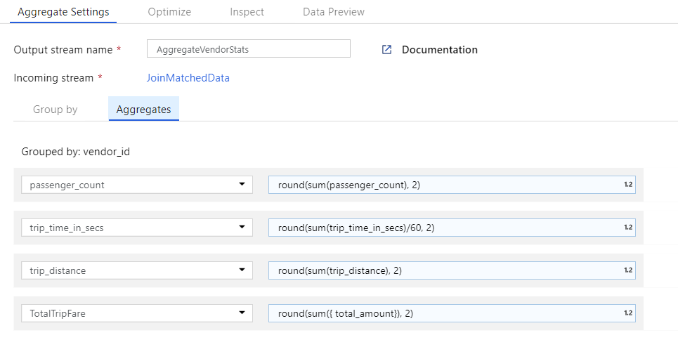Aggregate transformation in Mapping Data Flow - Azure Data