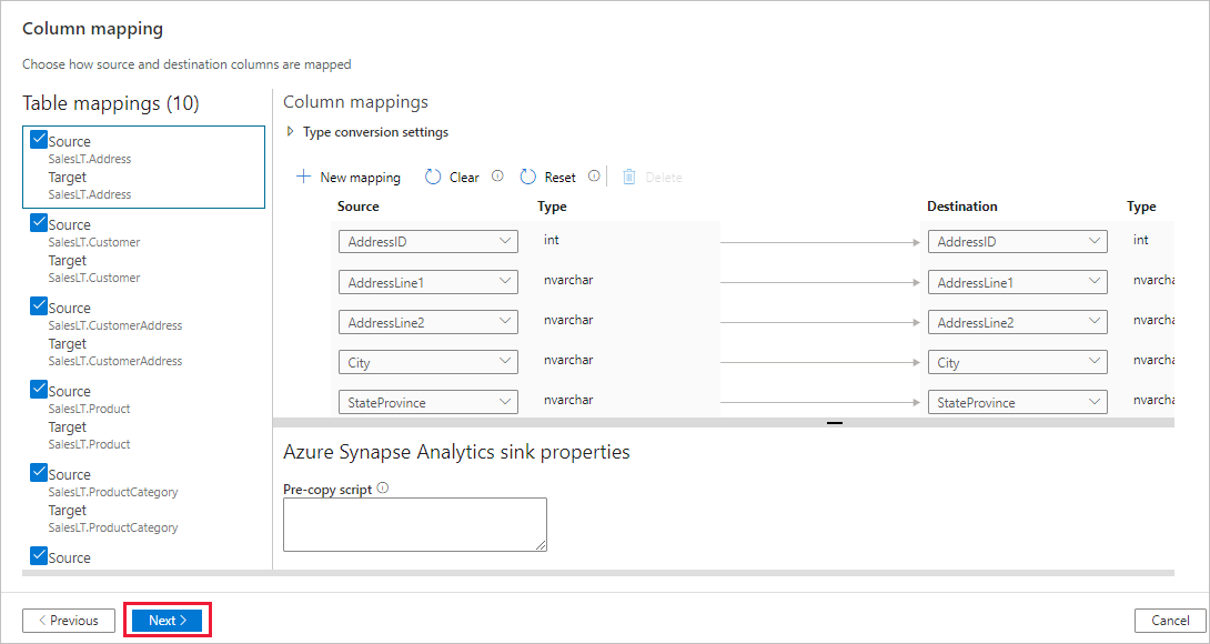 Load data into Azure SQL Data Warehouse by using Azure Data Factory