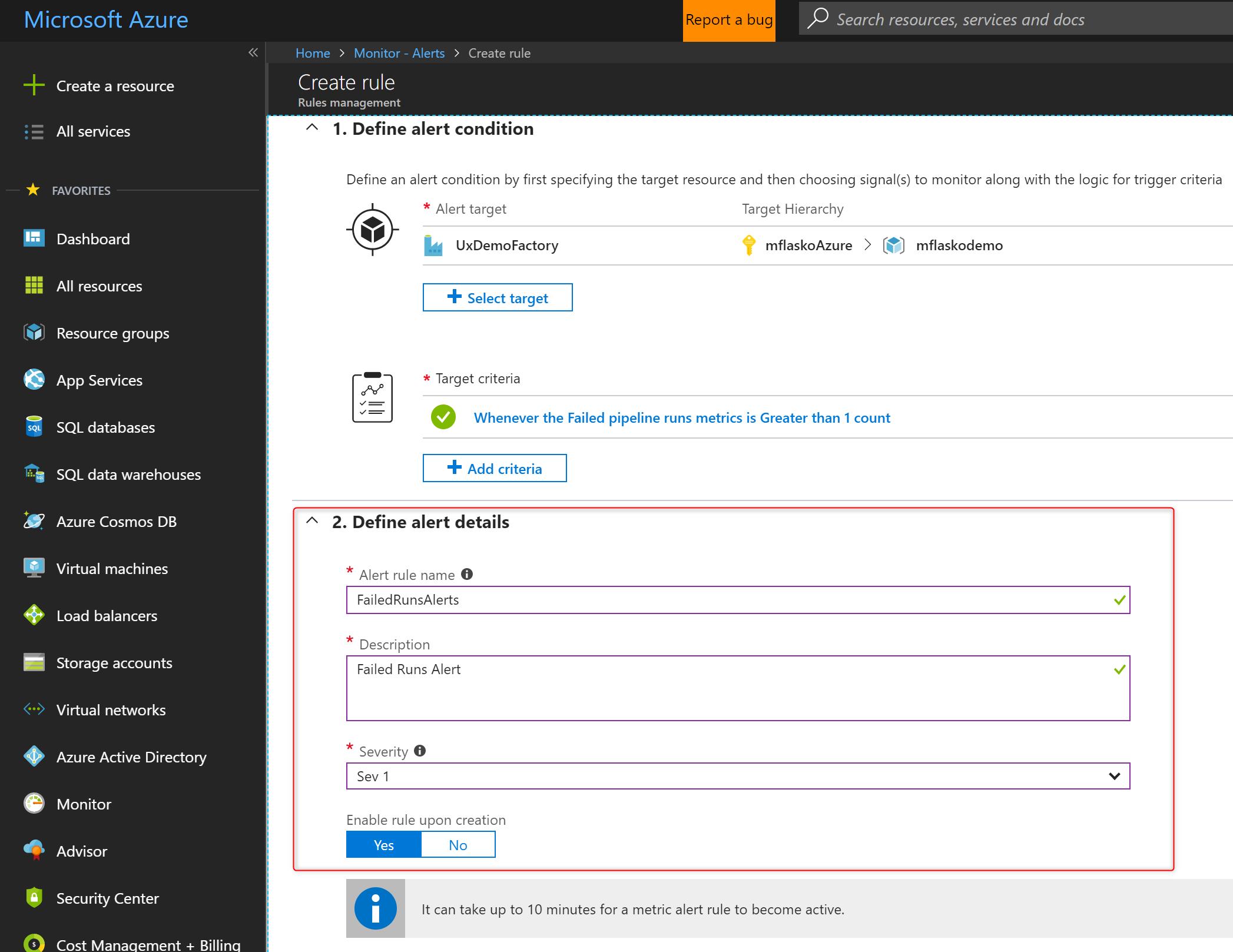 Monitor Data Factories Using Azure Microsoft Docs Datatool Alarm Wiring Diagram Alert Details