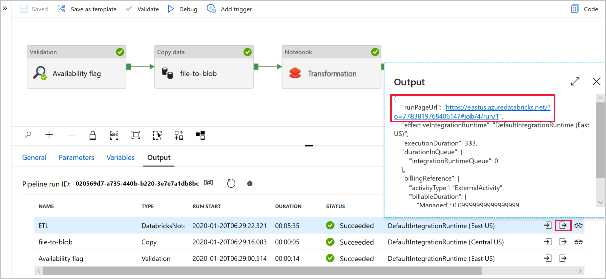 Transform data by using Databricks in Azure Data Factory