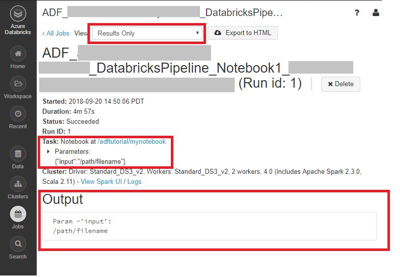 Run a Databricks Notebook with the Databricks Notebook