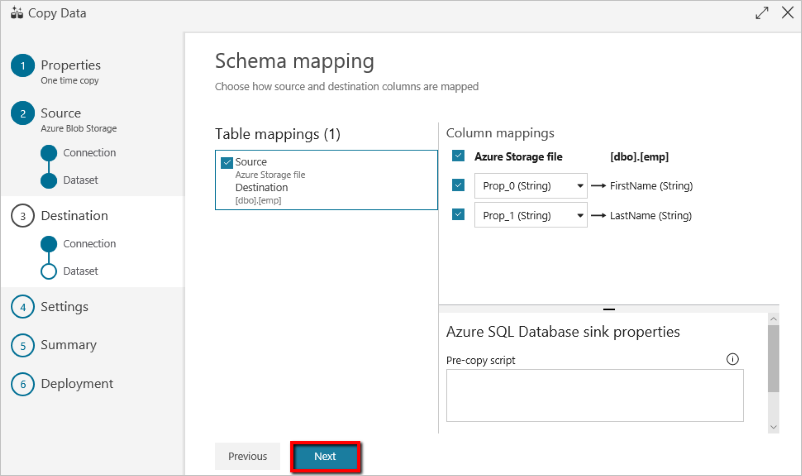 Copy data by using the Azure Copy Data tool | Microsoft Docs Database Mapping Tool Free on