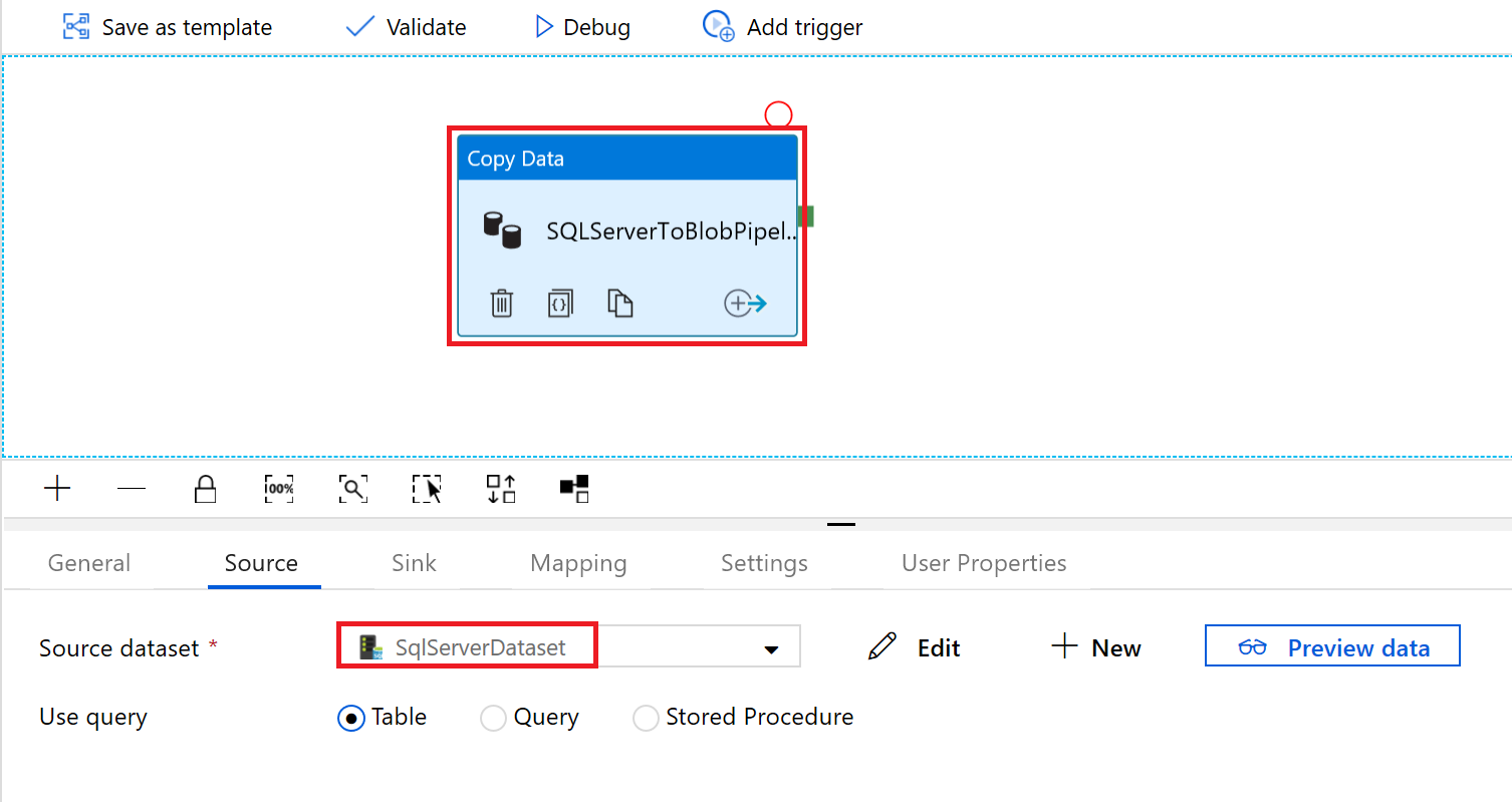 Copy data from SQL Server to Blob storage by using Azure Data