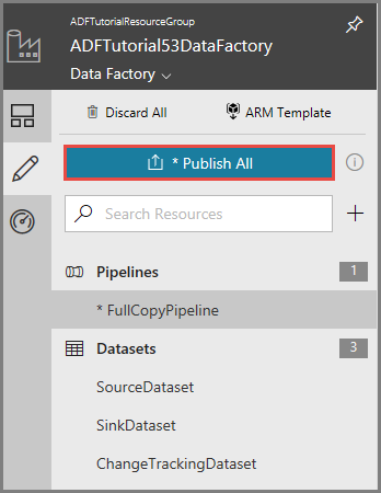 Incrementally copy data using Change Tracking and Azure Data