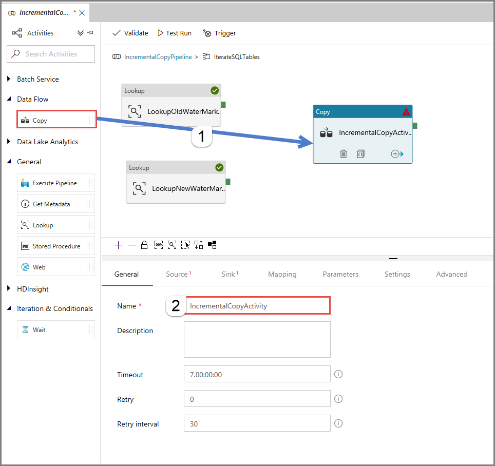 Incrementally copy multiple tables by using Azure Data