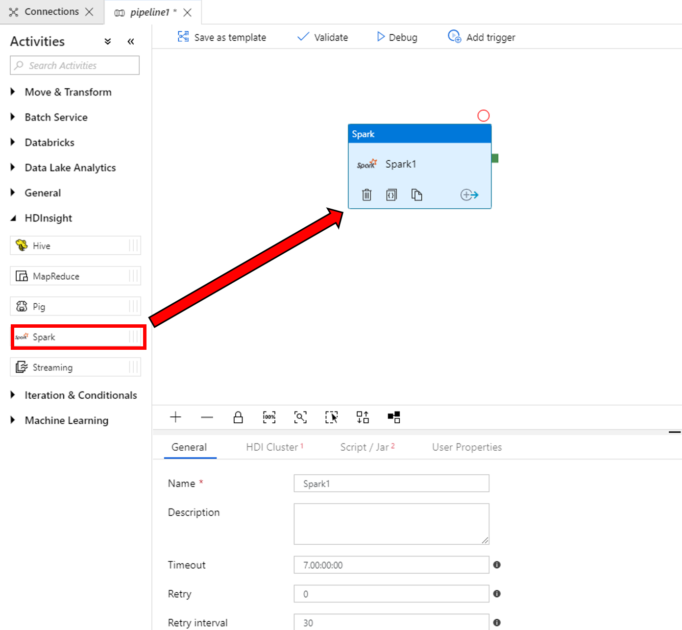 Transform data by using Spark in Azure Data Factory