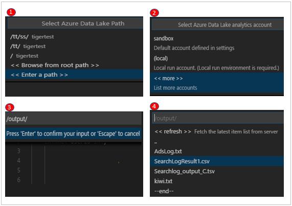 Use Azure Data Lake Tools for Visual Studio Code | Microsoft