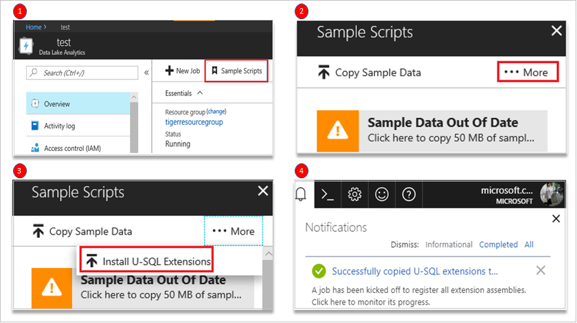 Develop U-SQL with Python, R, and C# for Azure Data Lake