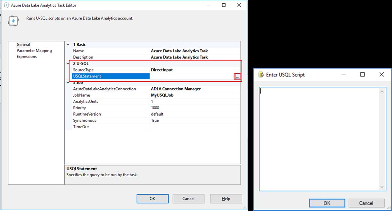 Schedule Azure Data Lake Analytics U Sql Jobs Using Ssis Microsoft