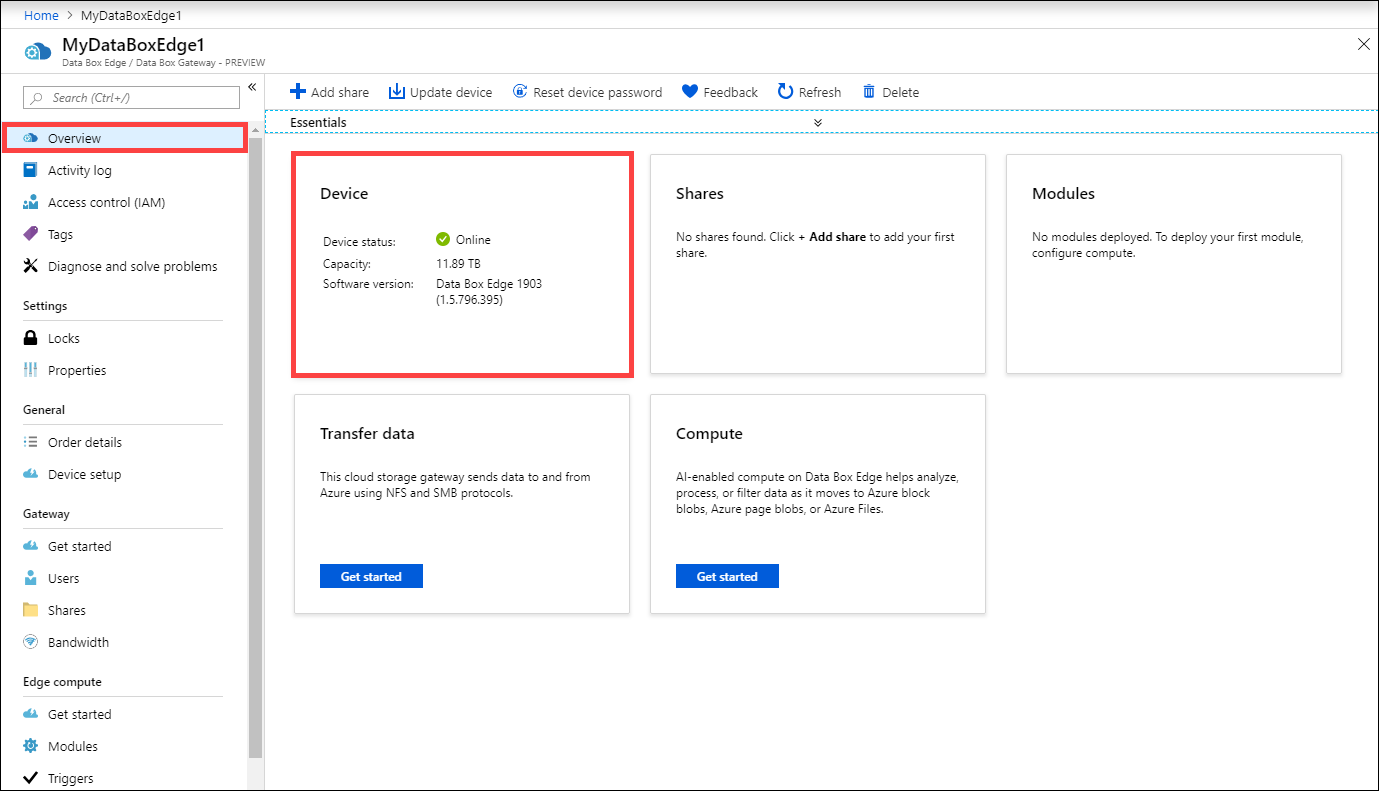 Tutorial to transfer data to shares with Azure Data Box Edge