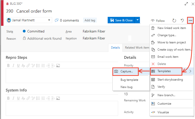 Use Work Item Templates To Update Stories More Azure Boards