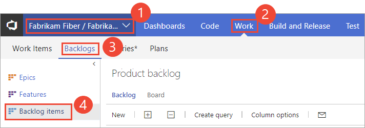 Open the Boards > Backlogs page