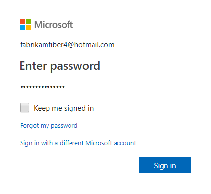Enter your password and sign in