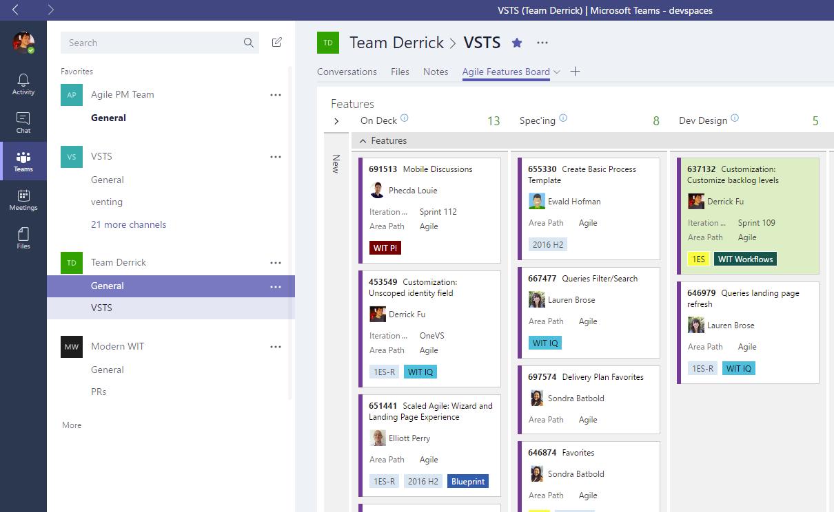 Teams integration, package & release management regions ...