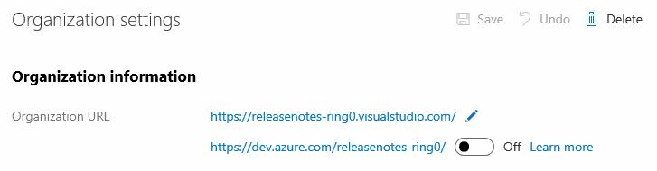 Org URL setting