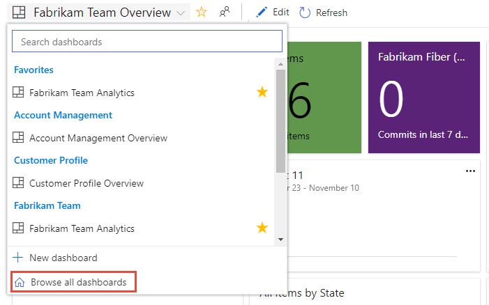 Add Rename Delete And Manage Team Dashboards Azure Devops Microsoft Docs
