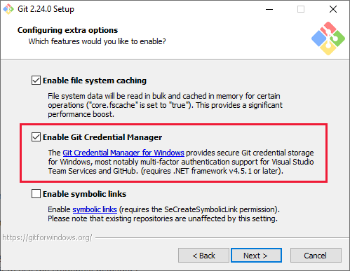 Git credential manager for windows