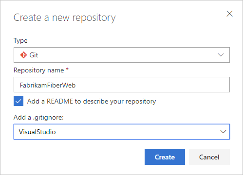 Create a new Git repo in your project - Azure Repos | Microsoft Docs