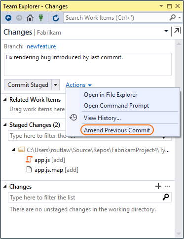 Save your changes with Git commits - Azure Repos | Microsoft Docs