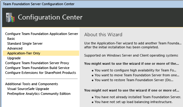 This uses the restored configuration database