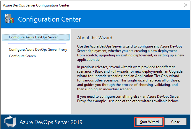 Install and configure a single server - Azure DevOps Server & TFS