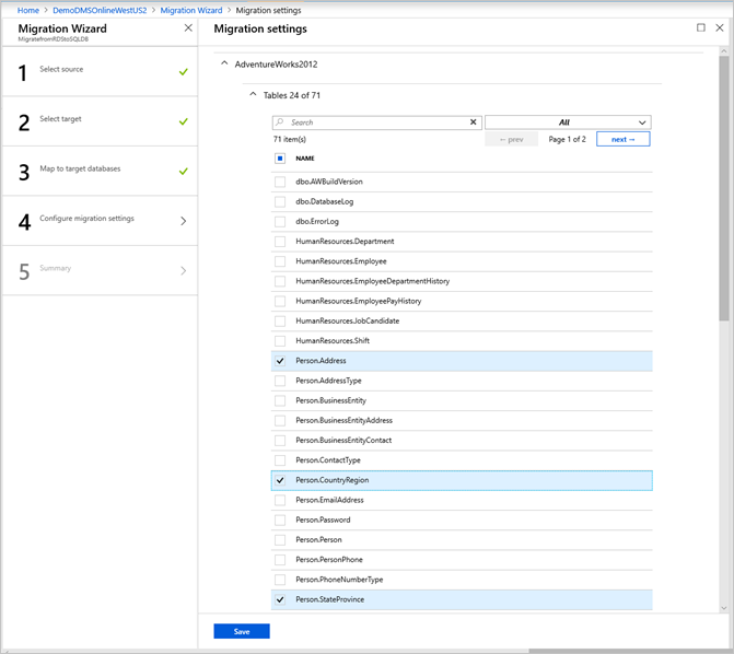 Tutorial: Use the Azure Database Migration Service for an